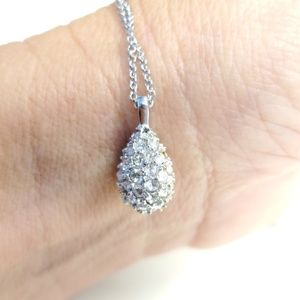 Swarovski Crystal Cluster Teardrop Necklace